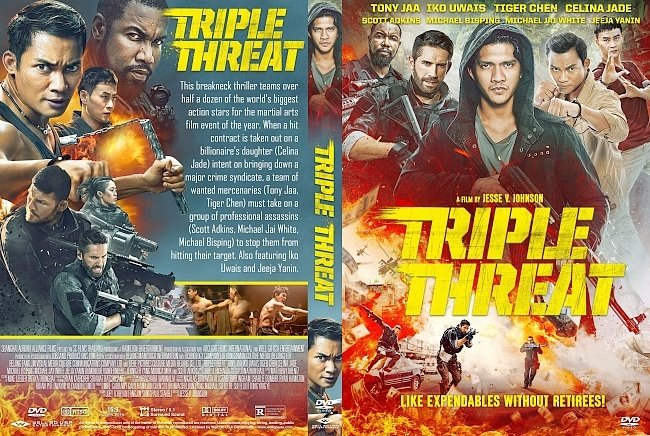 dvd cover Triple Threat DVD Cover