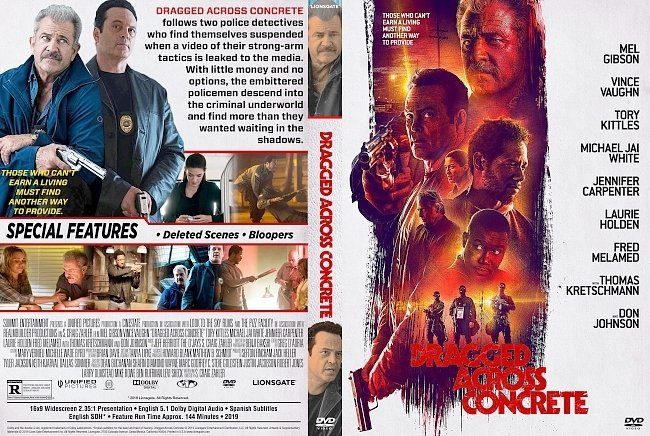 dvd cover Dragged Across Concrete DVD Cover