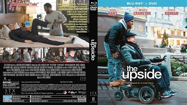 dvd cover The Upside Bluray Cover