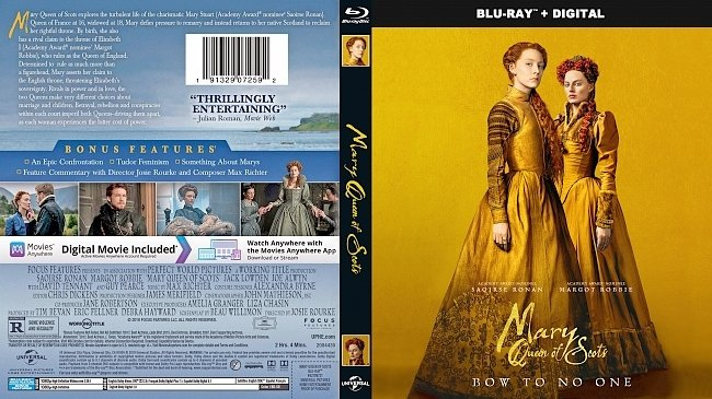 dvd cover Mary Queen of Scots Bluray Cover