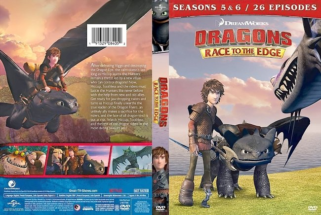dvd cover Dragons: Race to the Edge - Seasons 5 & 6 DVD Cover