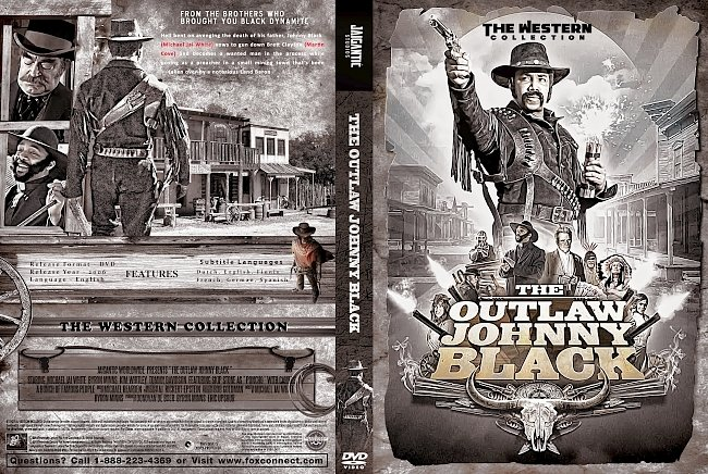 dvd cover The Outlaw Johnny Black DVD Cover