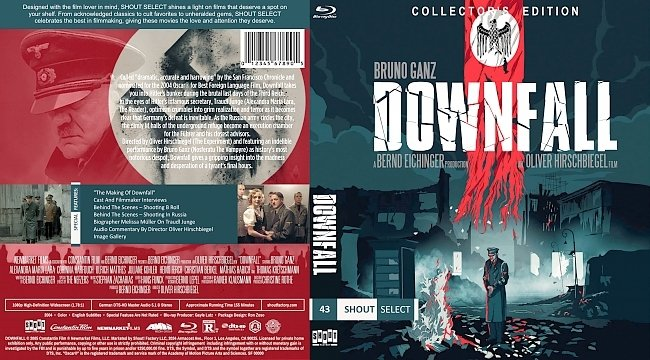 dvd cover Downfall (2004) Bluray Cover