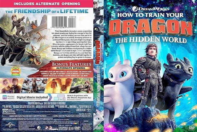 dvd cover How to Train Your Dragon: The Hidden World DVD Cover