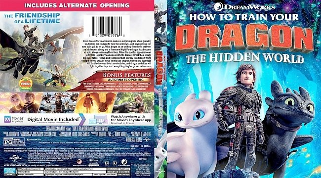 dvd cover How to Train Your Dragon: The Hidden World Bluray Cover