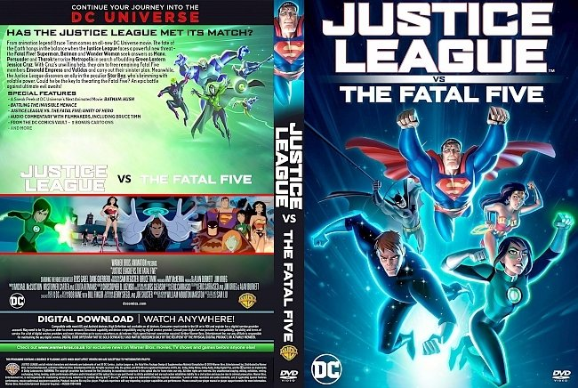 dvd cover Justice League vs the Fatal Five DVD Cover