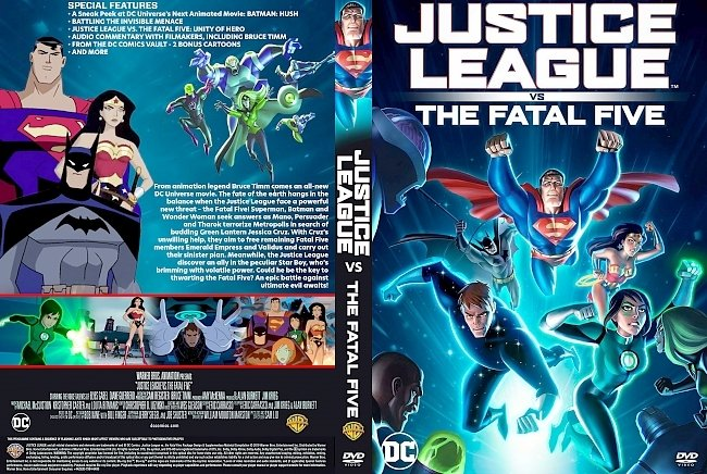 dvd cover Justice League vs. the Fatal Five DVD Cover