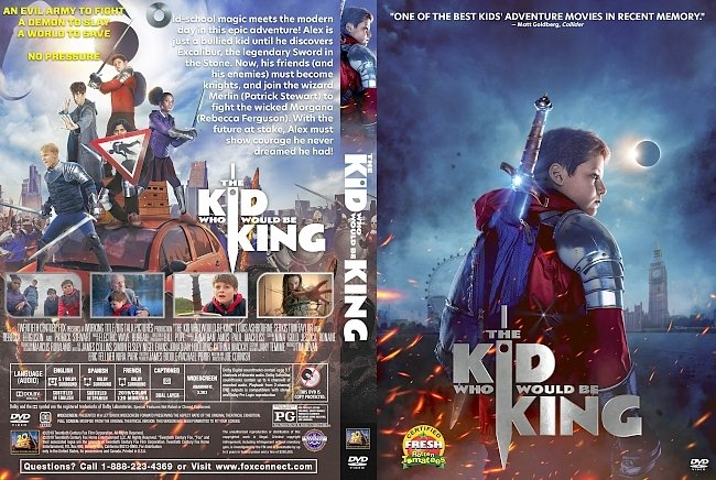 dvd cover The Kid Who Would Be King DVD Cover