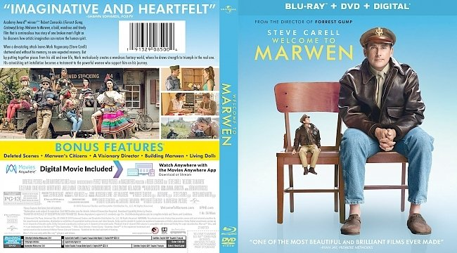 dvd cover Welcome to Marwen Bluray Cover