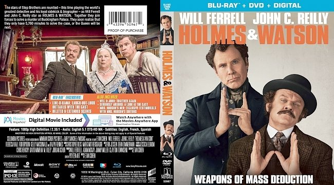 dvd cover Holmes & Watson Bluray Cover