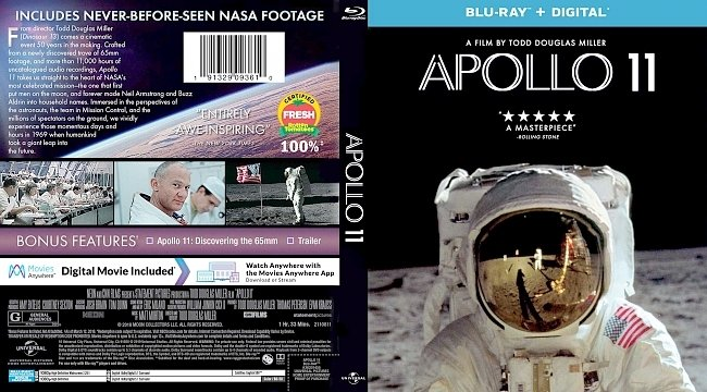 dvd cover Apollo 11 Bluray Cover