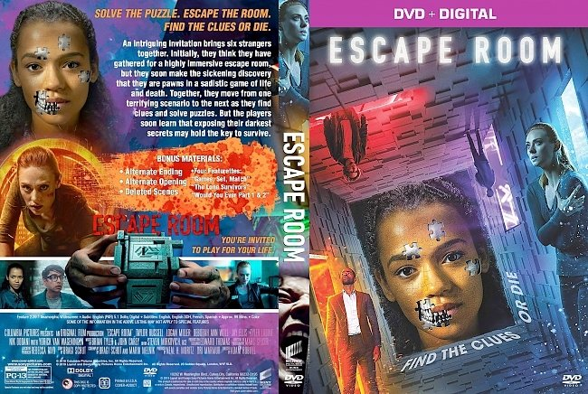 dvd cover Escape Room DVD Cover