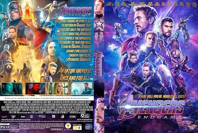 dvd cover Avengers: Endgame DVD Cover