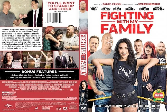 dvd cover Fighting with My Family DVD Cover
