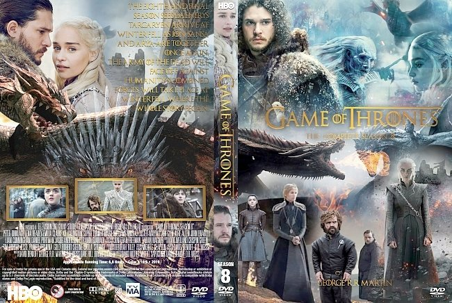 dvd cover Game of Thrones Season 8 DVD Cover