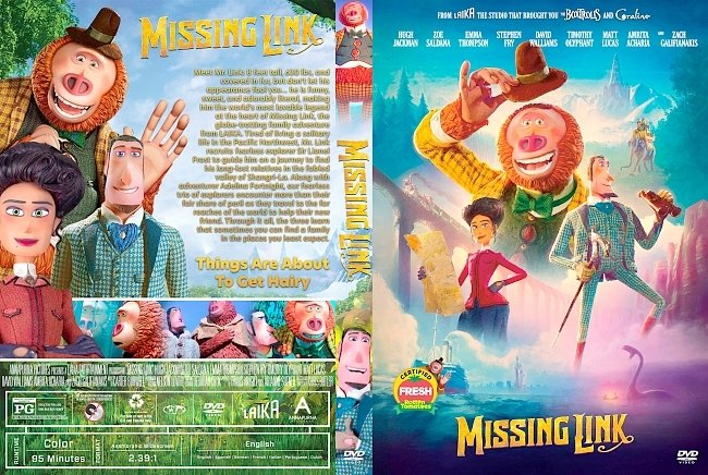dvd cover Missing Link DVD Cover