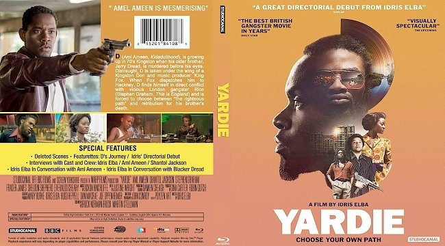 dvd cover Yardie Bluray Cover