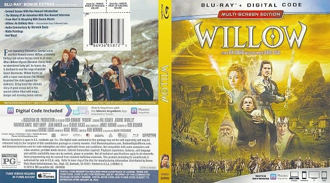 dvd cover Willow Bluray Cover