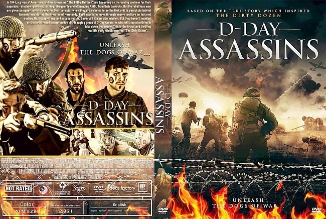 dvd cover D-Day Assassins DVD Cover
