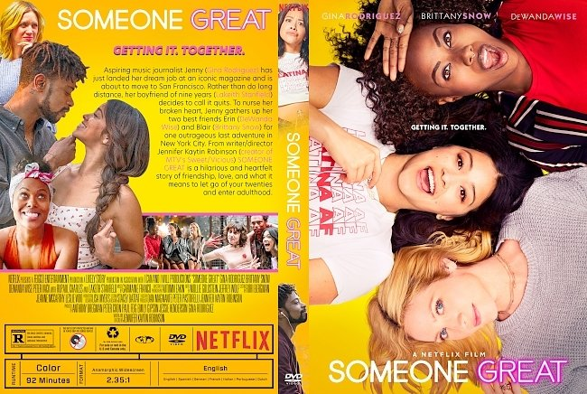 dvd cover Someone Great DVD Cover
