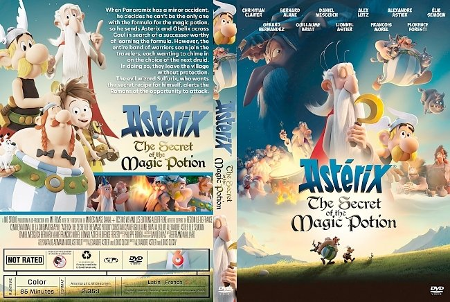 dvd cover Asterix: The Secret of the Magic Potion DVD Cover