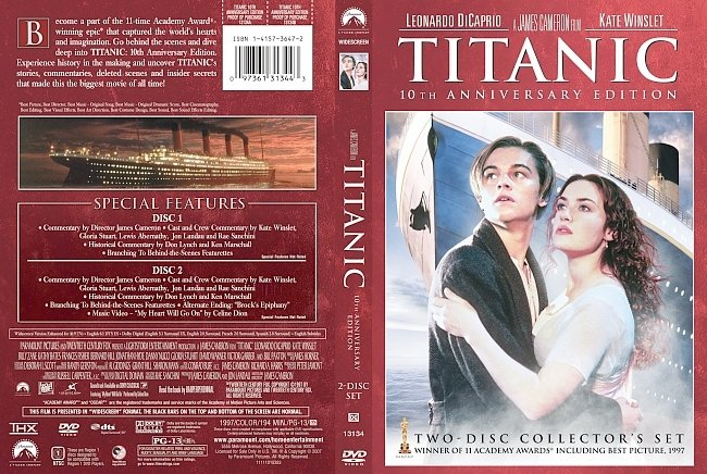 dvd cover Titanic 10th Anniversary Edition DVD Cover