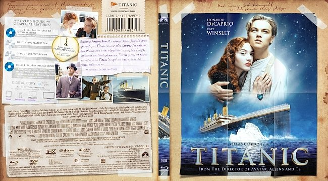 dvd cover Titanic Bluray Cover