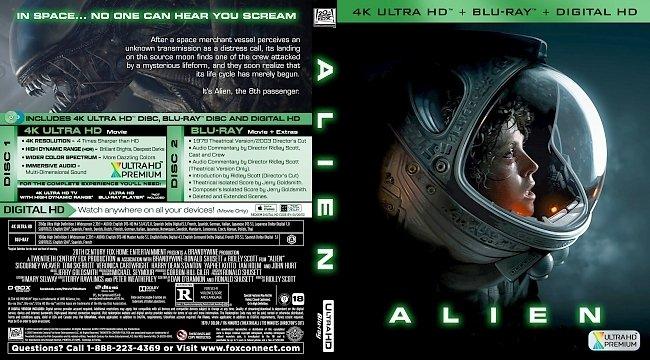 dvd cover Alien (1979) Bluray Cover