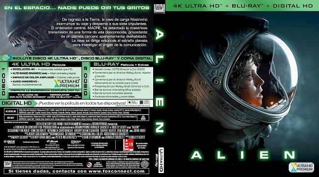 dvd cover Alien (1979) [Spanish] Bluray Cover