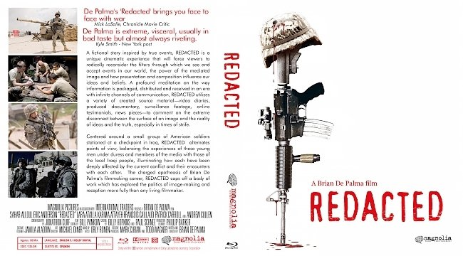 dvd cover Redacted Bluray Cover