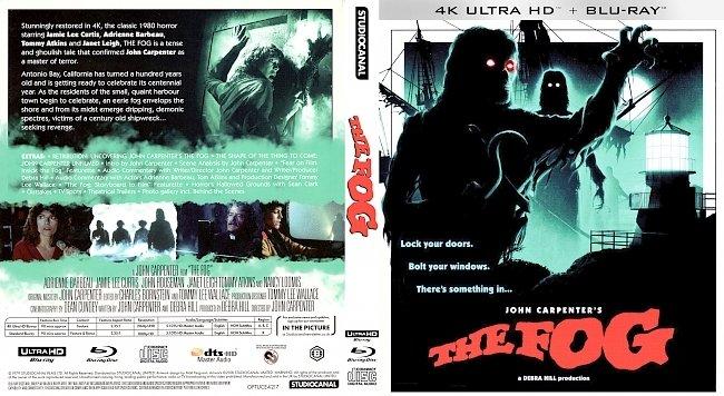 dvd cover The Fog 4k UHD Bluray Cover