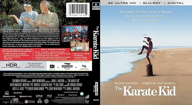 dvd cover The Karate Kid 4k UHD Bluray Cover