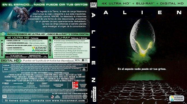 dvd cover Alien (1979) [Spanish] 4k UHD Bluray Cover