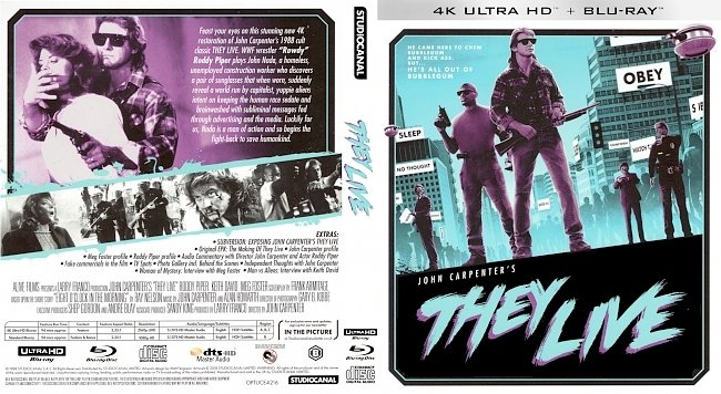 dvd cover They Live 4k UHD Bluray Cover
