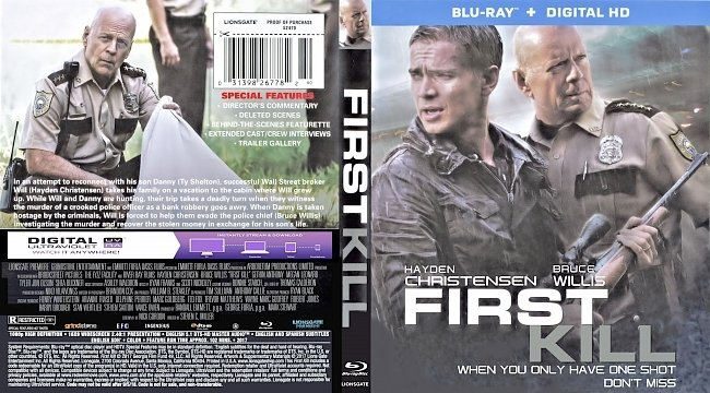dvd cover First Kill Bluray Cover