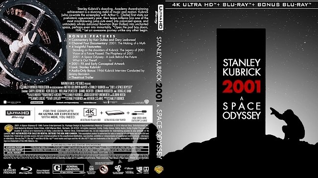 dvd cover 2001: A Space Odyssey 4k UHD Bluray Cover