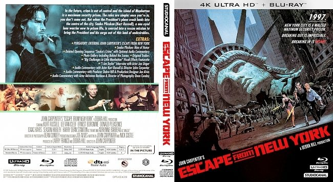 dvd cover Escape from New York 4k UHD Bluray Cover