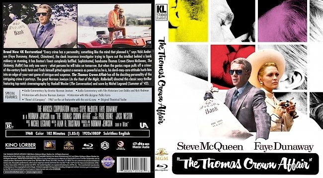 dvd cover The Thomas Crown Affair Bluray Cover