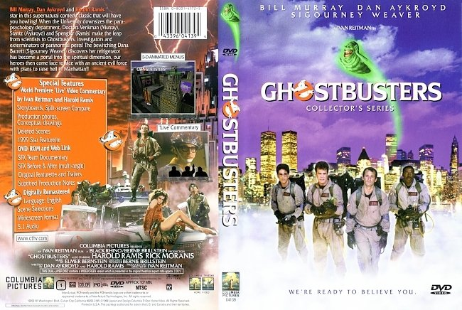 dvd cover Ghost Busters (1984) DVD Cover