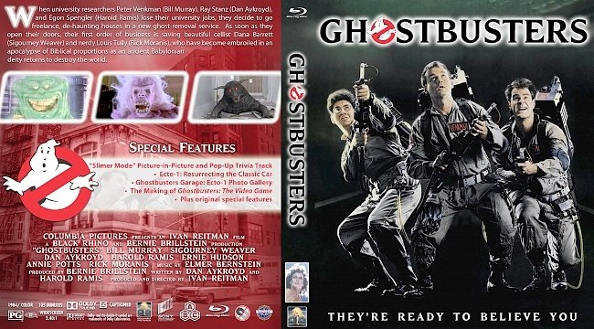 dvd cover Ghost Busters (1984) Bluray Cover