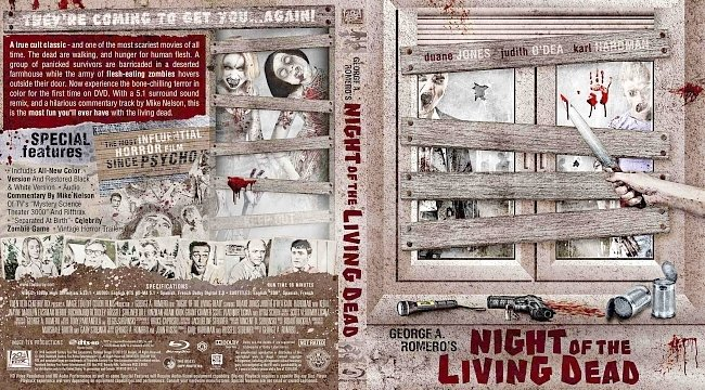 dvd cover Night of the Living Dead Bluray Cover