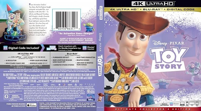 dvd cover Toy Story 4k UHD Bluray Cover
