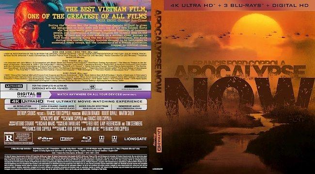 dvd cover Apocalypse Now 4k UHD Bluray Cover