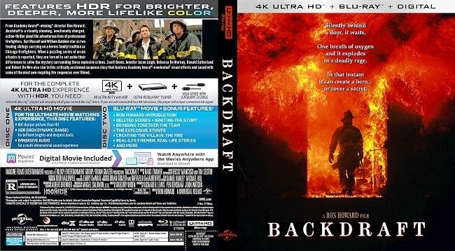 dvd cover Backdraft 4k UHD Bluray Cover