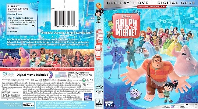 dvd cover Ralph Breaks the Internet Bluray Cover