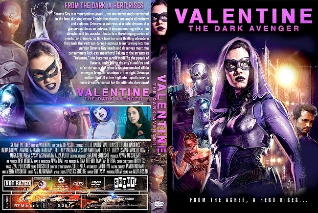 dvd cover Valentine: The Dark Avenger DVD Cover