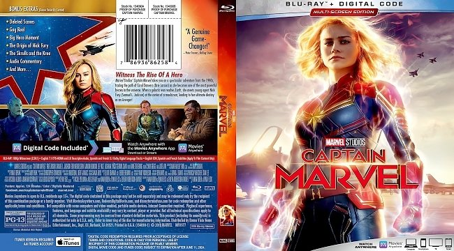 dvd cover Captain Marvel Bluray Cover
