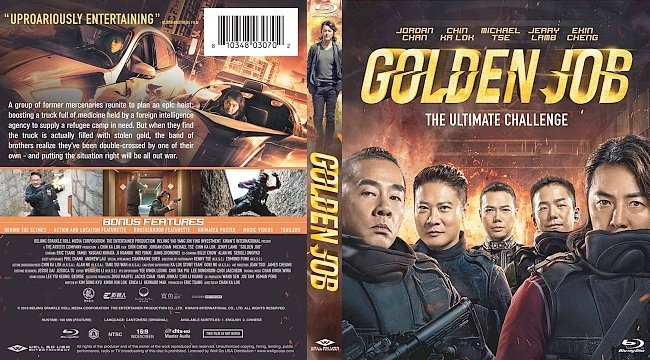 dvd cover Golden Job Bluray Cover