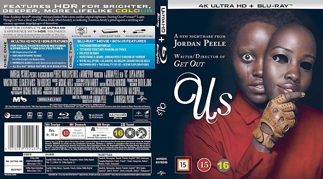 dvd cover Us 4k UHD Bluray Cover