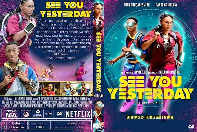 dvd cover See You Yesterday DVD Cover